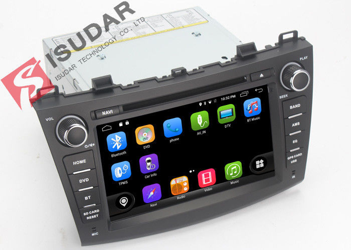 1080P Mazda3 Dvd Player , Android Touch Screen Car Stereo Head Unit With OBD TMPS